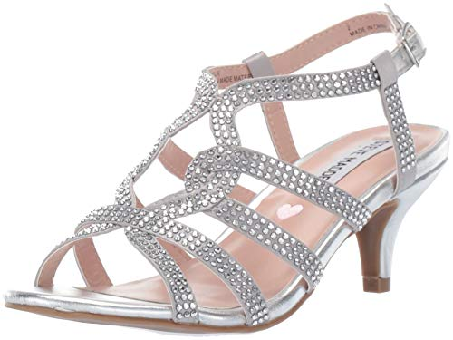 Kids Silver Dress - Steve Madden Girls' JAMOUR Heeled Sandal,