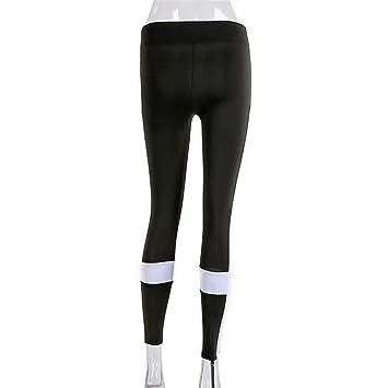 YYHGLH Malla Yoga Pantalones Medias Mujeres Fitness Sport ...