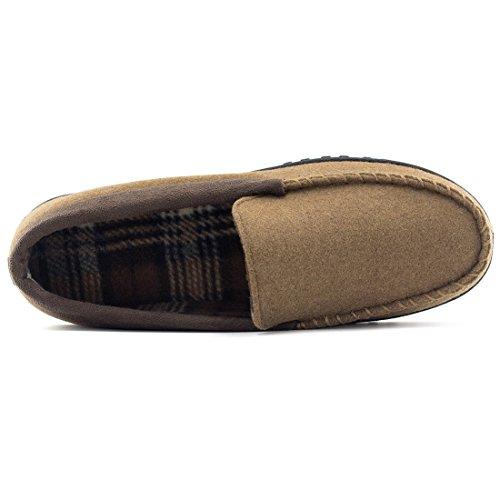 Hometop Men S Indoor Outdoor Wool Micro Suede Moccasin