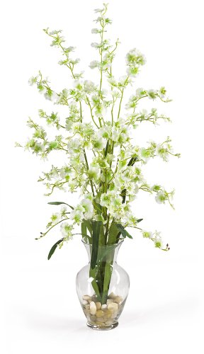 Nearly Natural 1073-GR Dancing Lady Liquid Illusion Silk Flower Arrangement, Green