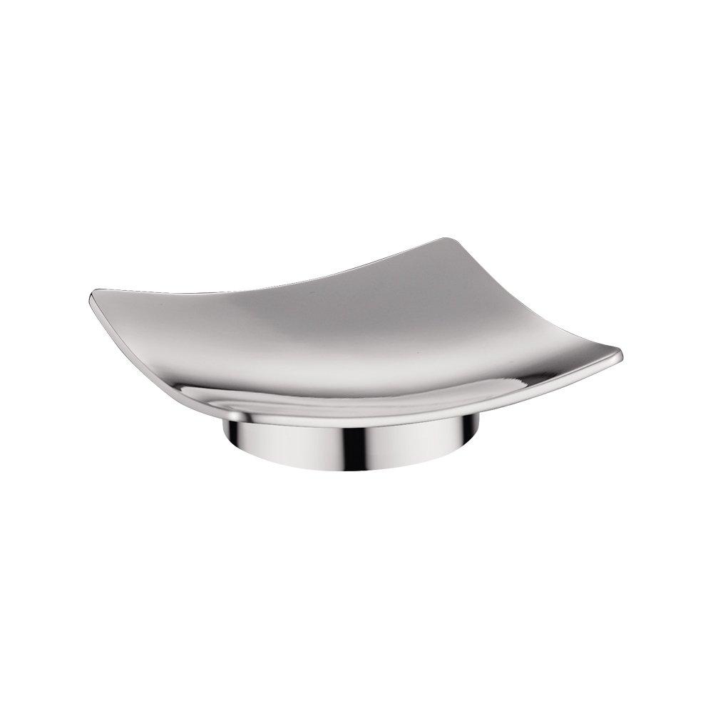 qinisi Bathroom Freestanding Soap Dish & Holder Solid Brass Chrome Euro Style