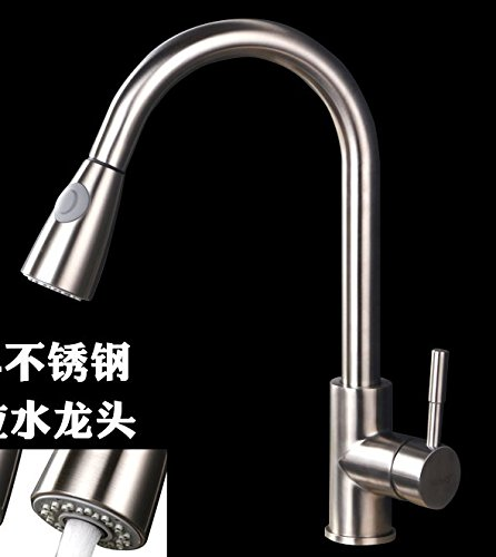 AWXJX Mixer Water Tap kitchen stainless steel Rotating Hot and cold Pull out