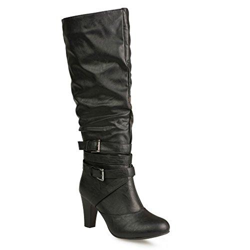 Black Calf Western Boot - 1