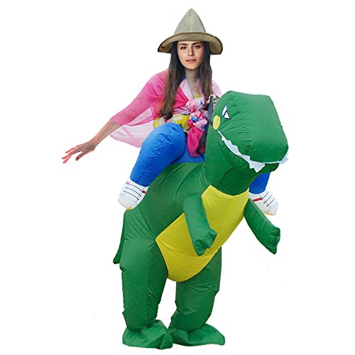 Funniest Costumes Ever (Inflatable Costume ,BOOPH Inflatable Dinosaur Adult Fancy Dress Costume for Mens Women)