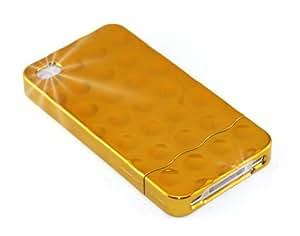"""""""Vibraciones"""" Dorado, Cubierta duro para iPhone 4. Estuche / Carcasa / Funda, 2 piezas, Cubierta de plástico duro para iPhone 4."""