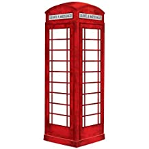 Wall Pops WPE0649 WPE0649 London Phone Booth Dry Erase Wall Decal