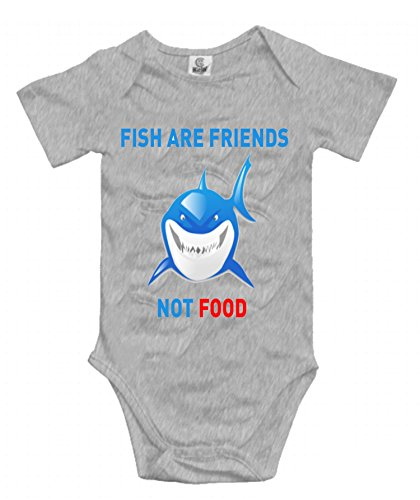 (Fish are Friends Not Food - Finding Nemo Unisex Baby Short-Sleeve Onesies Cotton Bodysuits Infant Romper)
