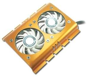 Connectland VEN-HD-FS02 - Ventilador doble para disco duro