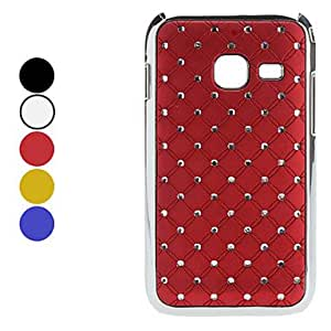 GJY Lattice Pattern Hard Case with Shining Rhinestone for Samsung S6802 (Assorted Colors) , Red