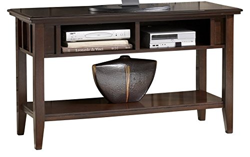 Ashley Furniture Signature Design - Logan Console Sofa Table - Contemporary - Dark Brown (Entry Long Table)