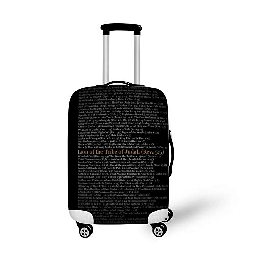 Lion with Quotes Fashionable Baggage Suitcase Protector Travel Luggage Cover Anti-Scratch