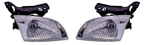 00 01 02 Chevrolet Cavalier Headlamp Headlight Pair Set Both Driver And Passenger