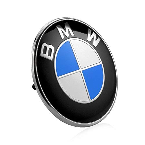 Haocc Loud 74mm BMW 2 Pin Replacement Badge Emblem Logo for BMW E46 E90 E82 1 3 TRUNK EMBLEM ()