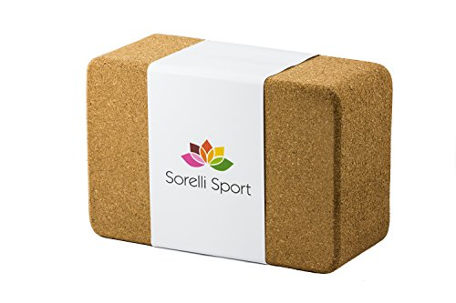 Sorelli Sport Cork Yoga Block, Eco-Friendly Yoga Brick 9  yoga block wooden | Hugger Mugger Wooden Yoga Block 41CchABQbRL
