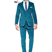 NMFashions Blue Crossweave High Qaulity 2 Piece Suit