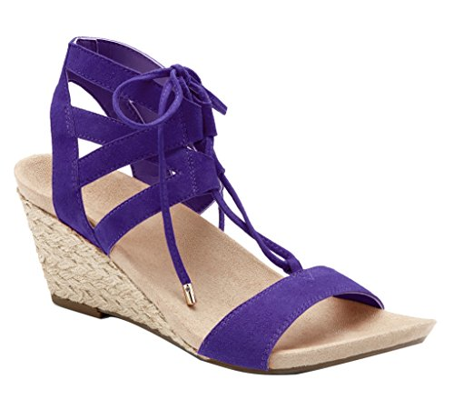 Vionic Womens Nobile Lacey Lace Up Zeppa Viola