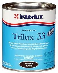 Interlux White Trilux 33 Antifouling Paint, Quart YBA068/QT