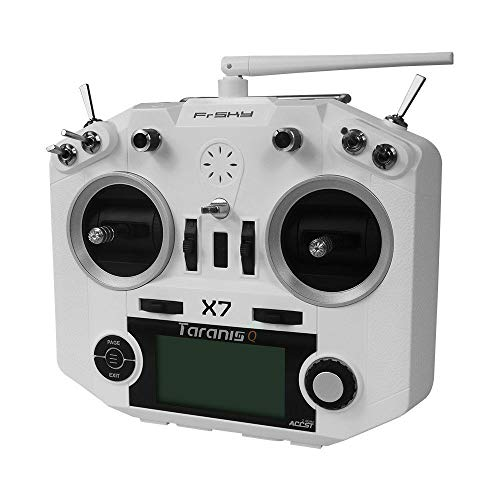 (FrSky 2.4G Accst Taranis Q X7 16 Channels Transmitter Radio Controller White Battery and Battery Trays Not Include )
