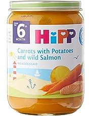 Hipp Organic Carrot W Potato and Wild Salmon, 190g