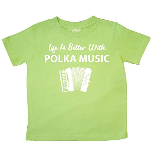 inktastic - Life's Better Polka Music Toddler T-Shirt 3T Key Lime 2f27e