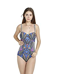 Spring fever Plus Size Sexy Bikini Cover Up One Piece Swimsuit Monokini For Women
