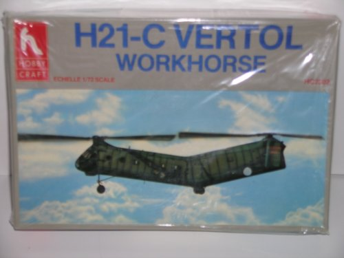 "Hobby Craft ""U.S. Army H21-C Vertol Helicopter"" Plastic Model Kit"