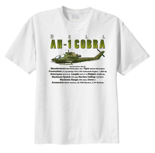 Bell AH-1 Cobra Attack Helicopter WarbirdShirts™ Men's Short Sleeve T-Shirt White XXL