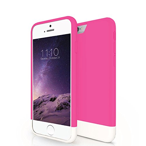 iPhone 6S Case - JKase [CANVAS SLIDE] Protective Tough Slider Armor Rugged Case Cover for Apple iPhone 6S / iPhone 6 (Pink)