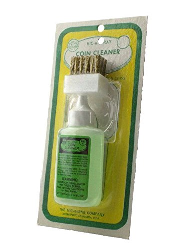 Nic-A-Spray 1.25 oz Silver & Gold Coin Cleaner with Brush