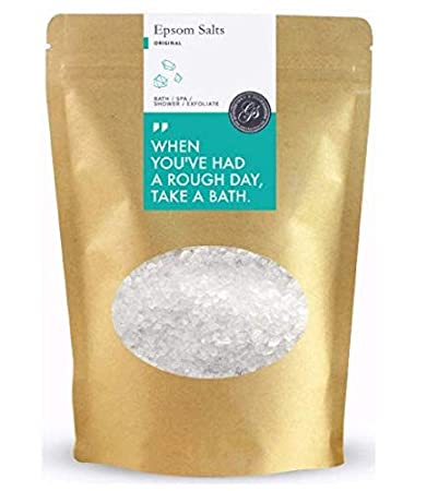 *NEW* Epsom Salts Magnesium Sulphate - Soak for Achy Muscle Relief, Detoxing and Relaxation - Bath Bulk Organic Detox for Weight Loss Laxative (French Lavender, 1kg) Grace & Stella