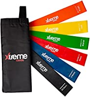 Xtreme Bands Resistance Loops | 6 Level Set: X-Light through XX-Heavy | For Home Fitness, Gym Workouts or Outd