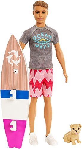 Barbie FBD71 Dolphin Magic Ken Doll, Brown