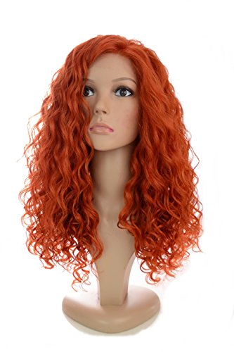 Amazon.com : Long Vibrant Ginger Auburn Corkscrew Tight Curl Lace Front Wig in the style of Jess Glynne | : Beauty