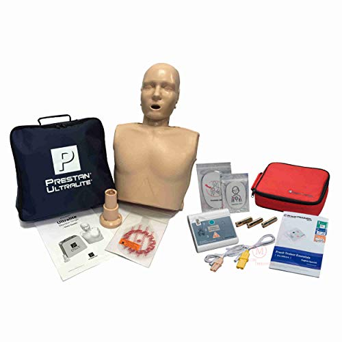 Basic CPR Training Kit w Prestan Ultralite CPR Manikin, WNL Essentials AED Trainer, MCR Accessories