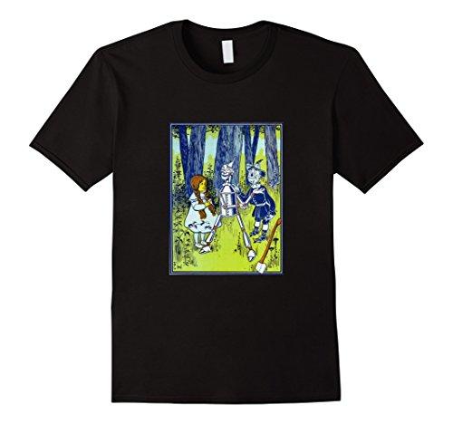 Black Dorothy Wizard Of Oz (Mens Wizard of Oz Vintage Book Illustration Retro T-Shirt Small Black)