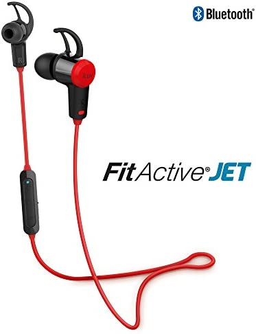 ILUV FITACTJETRD Fitactive Jet Wireless Sport Headphones with Microphone Red