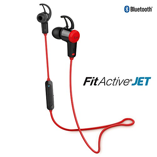 ILUV FITACTJETRD Fitactive Jet Wireless Sport Headphones with Microphone (Red)