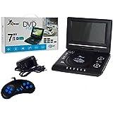DVD Portatil com TV FM e Video Game, USB, SD, Controle
