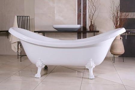 Independiente de baño Nouveau Venecia Negro/Blanco 2020 mm - Cuarto de baño - Bañera Barroco Antiguo, Retro