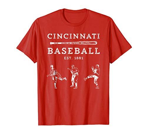 Classic Cincinnati Baseball Fan Retro T-Shirt
