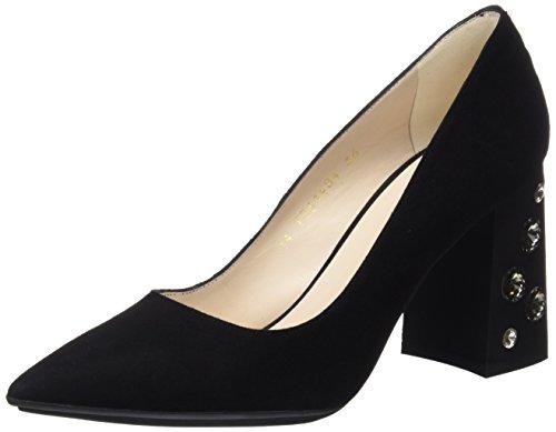 De Para Zapatos Ricola Mujer Tacón Negro Negro Con ante Punta Lodi Cerrada qFAUn0H0