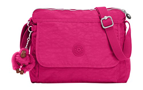 Kipling Aisling Solid Crossbody Bag Convertible Cross Body,Very Berry,One Size