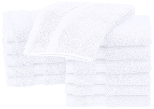 - Pinzon Organic Cotton Bathroom Washcloths, Set of 12, White