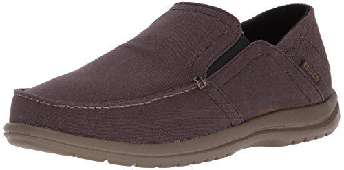Crocs Men's Santa Cruz Convertible Slip-On Loafer Flat, Espresso/Walnut, 7 M US ()