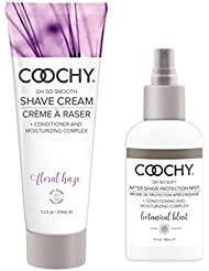 Coochy Moisturizing Shave Cream and After Shave Mist- Rash Free Conditioning Creme and Mist Set