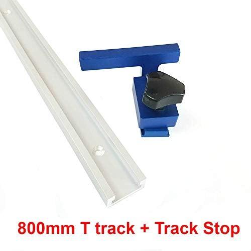 300-800mm Aluminium T-Slot T Spur w/Mitre Spur Stop-Router Tabelle Jig Fixture Slot T-Track Holzbearbeitungswerkzeuge fuuml;r Holz