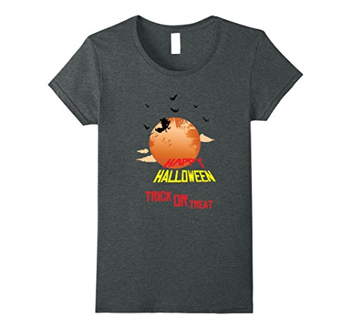 Womens Trick or Treat - Halloween Gift Idea Costume 2017 T-Shirt Medium Dark Heather (Creative Female Halloween Costume Ideas 2017)