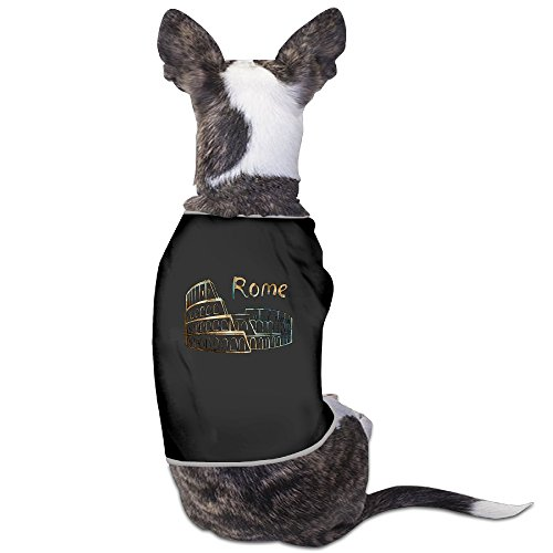 Colosseum Costumes (Rome Colosseum Sign With Lettering Italian Fashion Sleeveless Dog Costume Dogs Coats Suitable For Lovely Small Dogs)