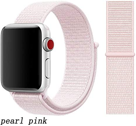 JWJY ユニバーサル・ウォッチバンド44ミリメートル40ミリメートル42ミリメートル38ミリメートルのナイロンブレスレット時計バンド44/42 (Band Color : Pearl pink, Band Width : 42mm or 44mm)