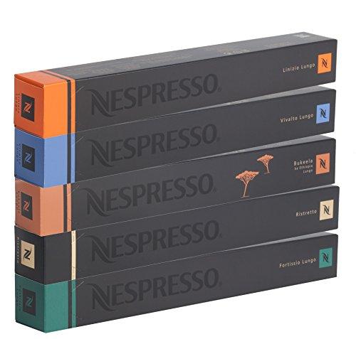 50 Nespresso OriginalLine Capsules: Lungos and Ristretto Mix